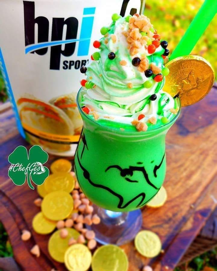 saint patricks day healthy green protein shake recipe